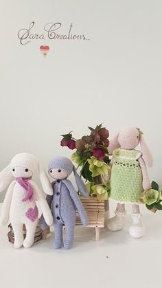 """Sara Creations - crocheted toys - """" Bunny family """" collection  Jucarii crosetate - colectia """" Bunny family """" Crocheted Toys, Bunny Toys, Teddy Bear, Cute, Blog, Animals, Collection, Embroidery, Crochet Toys"""
