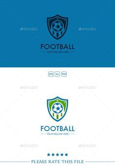Football Logo Template PSD, Vector EPS, AI #design #logotype Download: http://graphicriver.net/item/football-logo/10222507?ref=ksioks