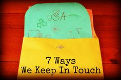 simple and original ideas here for keeping in touch with family; especially love: routine, art packs, and discuss geography!