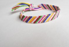 Handmade Bracelet - Candy Striped Colors - $10.50 via Etsy