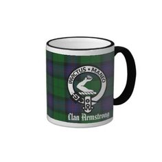 Armstrong Family Crest | family pride with this mug featuring clan armstrong s family crest ...