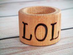 LOL wood napkin rings