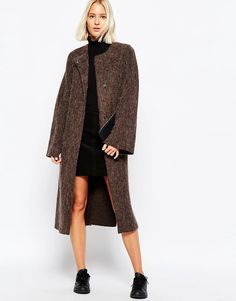 Weekday Belted Hairy Coat