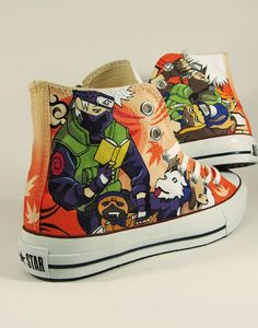 Kakashi from Naruto converse shoes painted shoes WANT! Custom Converse, Custom Shoes, Converse Shoes, On Shoes, Me Too Shoes, Naruto Shoes, Naruto Merchandise, Kakashi Sensei, Gaara