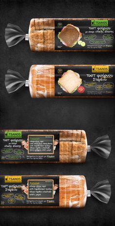 TSANOS Toast Traditional cookies & bakery Packaging Design