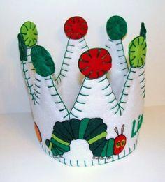 Hungry Little Caterpillar Inspired Felt Birthday Party Crown | BetterThanNormal - Children's on ArtFire