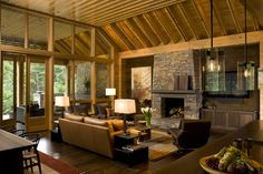 Nethermead Residence - eclectic - living room - charlotte - Carlton Architecture
