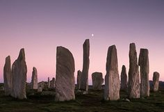 SCOTLAND: The Standing Stones of Callanish at dusk, Isle of Lewis, Western Isles.