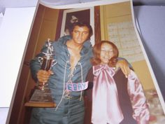 Vintage Unseen Elvis Candid Photo 8X10 Original With Fan Vegas 8/22/70 # 328