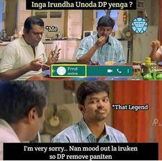 Tamil Jokes, Tamil Funny Memes, Tamil Comedy Memes, Love Memes Funny, Latest Funny Jokes, Some Funny Jokes, Funny Comedy, Funny Vid, Funny Relatable Memes