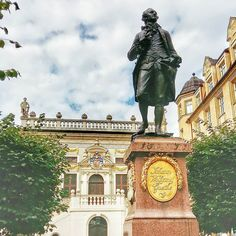 In Leipzig for a long weekend.  First things first - say hello to Goethe!   #germany #travel