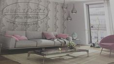 Piękna jasna tapeta z motywem kwiatowym Couch, Furniture, Home Decor, Settee, Decoration Home, Sofa, Room Decor, Home Furnishings, Sofas