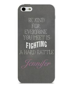 Another great find on #zulily! 'Be Kind 'Personalized Phone Case #zulilyfinds