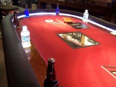 Over the top poker table poker table plans, poker table top, man cave essen Casino Royale, Poker Table Plans, Poker Table Top, Casino Night Party, Casino Theme Parties, Party Themes, Vegas Party, James D'arcy, Over The Top
