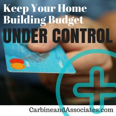 Being prepared is a key factor in keeping your home building budget under control. Today's blog helps you do just that.