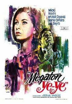 """""""Megatón ye-ye"""" by Jesús Yagüe Day And Night Song, A Hard Days Night, Birth Of The Beatles, Richard Lester, Sergio Mendes, New Cinema, Swedish Girls, Movie Poster Art, Great Films"""