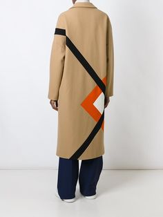 MSGM пальто миди с геометрическим узором