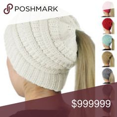 COMING SOON! PONY TAIL KNIT HAT IN DIFFERENT COLORS. WILL DROP TO REAL PRICE WHEN THEY COME IN. boutique Accessories Hats