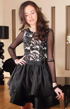 97deb65c94 Roco 0128 sukienka rozkloszowana czarna - Sukienki wieczorowe - Sukienki -  MODA DAMSKA - Sklep internetowy Intimiti.pl
