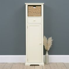 Attic Room Farmhouse Painted Tall Slim Shoe Cupboard - The Cotswold Company Japanese Gardens – Basic Shoe Bench, Bench With Shoe Storage, Tall Cabinet Storage, Hallway Furniture, Painted Furniture, Japanese Garden Style, Shoe Cupboard, Bedroom Cupboard Designs, Shoe Shelves