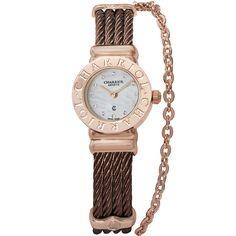 Charriol Women's ST20CP1.523.RO004 'St Tropez' Diamond Dial Two Tone Swiss Quartz Watch