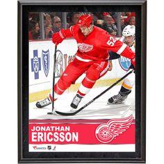 "Jonathan Ericsson Detroit Red Wings Fanatics Authentic 10.5"" x 13"" Sublimated Plaque - $23.99"