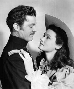 Gene Tierney and Dana Andrews in 'Belle Starr,' 1941 -- one of the first films in which they shared the silver screen. There were four others: Tobacco Road, also in '41; Laura, 1944, The Iron Curtain, 48 and Where the Sidewalk Ends in 1950.