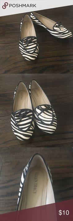 Ellen Tracy zebra print flats Elegant Ellen Tracy zebra print flats. New, never worn. Great for work. Ellen Tracy Shoes Flats & Loafers