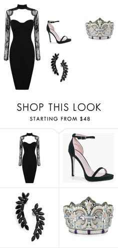 Vmas Meredith foster by madeline2106paris on Polyvore featuring Boohoo, Judith Leiber and Cristabelle