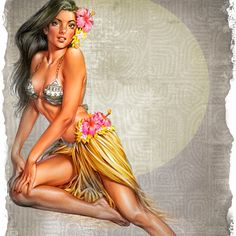 Hula girls Billabong 22x30 on watercolor paper $100, 11x14 on canvas $150, 16x20 on canvas $250, other sizes available please contact Phil@PhilRoberts.com as this would be a custom order. Artist paint enhancement to brighten, add detail and give you the next best thing to an Original available for additional $100-$200 depending on size!