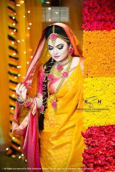 Rifat S Hossain photography Indian Wedding Bride, Indian Bridal, Indian Weddings, Bridal Mehndi Dresses, Bridal Outfits, Bridal Photography, Wedding Photography Inspiration, Bridal Beauty, Bridal Makeup