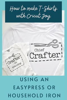 Learn best practices for making shirts with your Cricut Joy including how to use an EasyPress, Mini and household iron to apply HTV Making Shirts, How To Make Tshirts, Vinyl Projects, Diy Craft Projects, Cricut Tutorials, Cricut Ideas, Cricut Access, How To Use Cricut, Buy Vinyl
