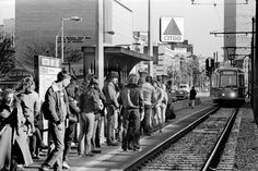 Many things may have changed since November 27, 1981, but BU students crowding the platform at BU East sure hasn't.