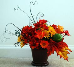 Small Fall Floral Arrangement Free Shipping by FloralDesignsByAlka, $25.00