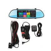 7 Inch Car Rearview Mirror Dash Camera HD 1080P Android Dual Lens DVR Camera 3G WIFI GPS