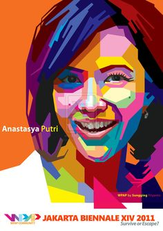 WPAP portraits Poster Color Painting, Eye Painting, Pop Art Illustration, Portrait Illustration, Illustrations, Arte Pop, Abstract Portrait, Portrait Art, Art Anime