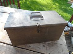 Vintage Metal Engineers Storage Box Industrial Storage for the Home or Office Cleaned Polished & ready to go Hinged Lid with internal tray by VintageFoggy on Etsy