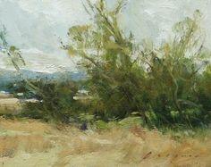 "Field Trees by Simon Addyman Oil ~ 8"" x 10"""