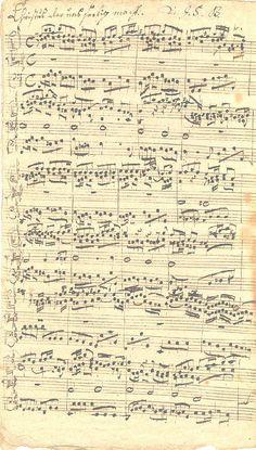 Christus, der uns selig macht, chorale prelude BWV 757. Manuscript - J.S. Bach