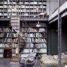 I love walls of books...