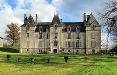 Beautiful restored Chateau with private grounds, outbuildings, stables and pool. Near Niort. French Architecture, Amazing Architecture, Monuments, Poitou Charentes France, French Property, French Chateau, French Farmhouse, Abandoned Places, Stables