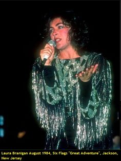 """Laura  Branigan August 1984, visiting and performing at Six Flags """"Great Adventure"""" Jackson, New Jersey."""