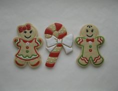 Gingerbread Boy and Girl & Candy Cane