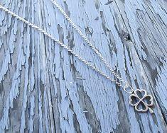 Silver Shamrock Necklace - Clover Necklace - Good luck necklace - St Patricks day necklace - Four leaf clover necklace - Shamrock pendant
