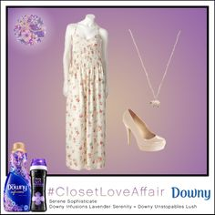 This Serene Sophisticate look was inspired by Downy Infusions Lavender Serenity and Downy Unstopables Lush. Pairing this maxi dress' antique print with this charming necklace will have you doing anything but counting sheep.  To shop this look, visit the LC Lauren Conrad collection available only at Kohl's. To register for the #ClosetLoveAffair sweepstakes visit https://downy.promo.eprize.com/pinterest/.