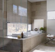 Contemporary Bathroom by Toshiko Mori Architect in Hudson Valley, New York