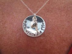 Personalized Hand Stamped Necklace  With by MotherDaughterJewel, $50.00