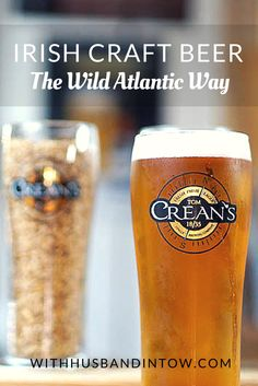 Irish Craft Beer: There are 13 Irish craft beer breweries along the Wild Atlantic Way, from Kinsale in the south of Ireland, to Donegal, along the border of Northern Ireland. #beer #Ireland #travel