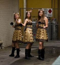 Dalek but in human-female form.. Dalekettes! This is such a cute and nerdy costume if you love Dr Who!