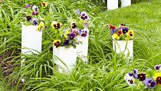 PVC Sleeve Planters #DIY #PVC #Sleeve #Planters